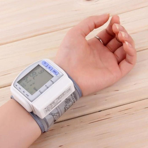 Portable LCD Wrist Blood Pressure Monitor | Shop Online | Snatcher