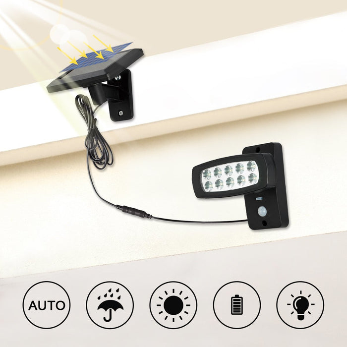 10 LED Solar Sensor Light