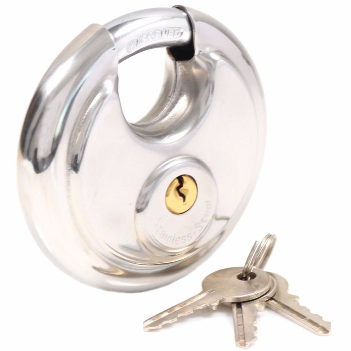 Stainless Steel Disc Padlock | Shop Online | Snatcher