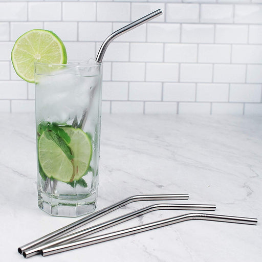 Stainless Steel Straws (Pack Of 8) | Shop Online | Snatcher