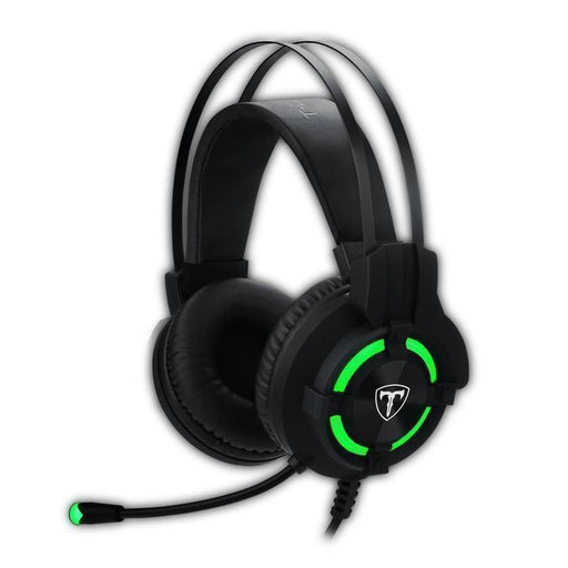 T-Dagger Andes Green Lighting|210cm Cable|USB|Omni-Directional Luminous Gooseneck Mic|40mm Bass Driver|Stereo Gaming Headset - Black/Green | Shop Online | Snatcher