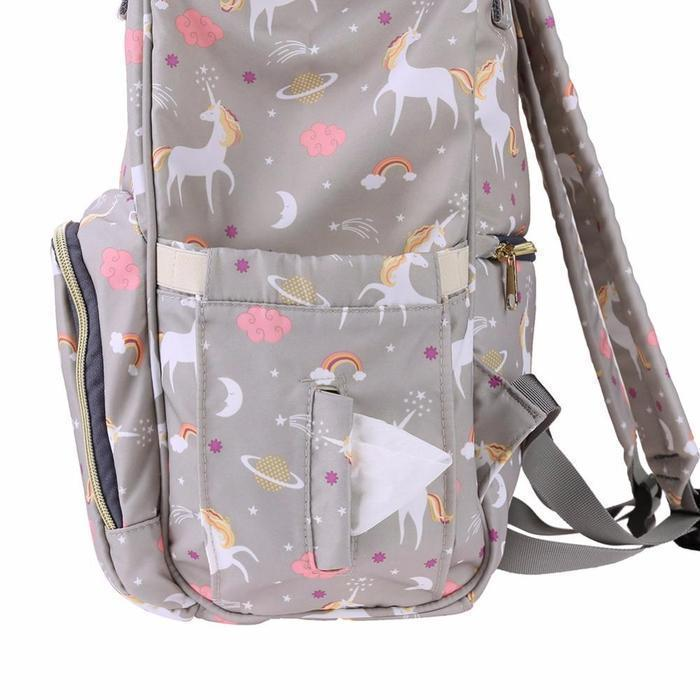 Unicorn Print Multi-Function Nappy Backpack - Buy Online