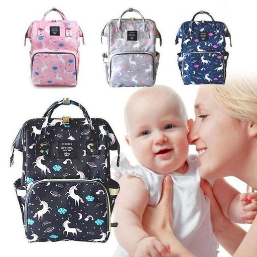 Unicorn Print Multi-Function Nappy Backpack | Shop Online | Snatcher