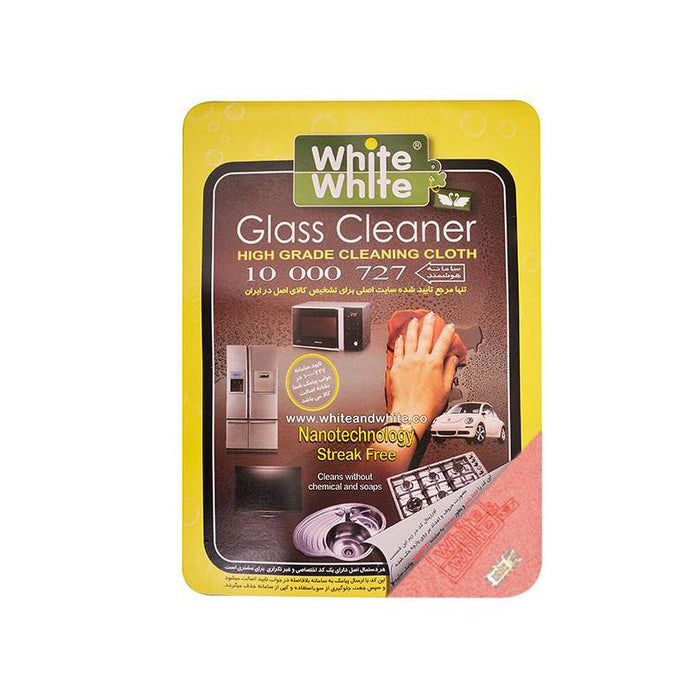 Image result for white & white glass cleaner high grade cleaning cloth