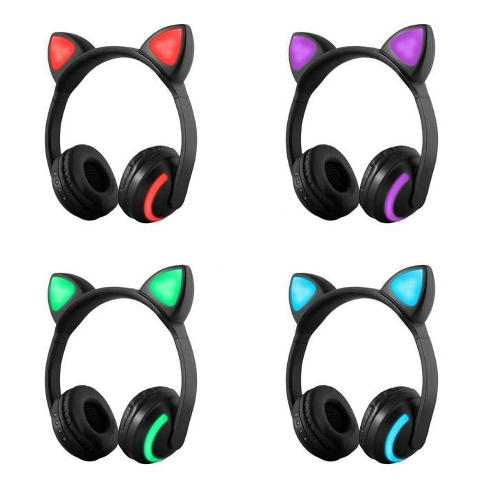 3f13f8f7843 Wireless Cat Ear Headphones With Color Changing LED   Shop Online   Snatcher