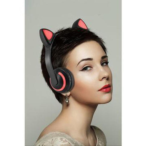Wireless Cat Ear Headphones With Color Changing LED | Shop Online | Snatcher