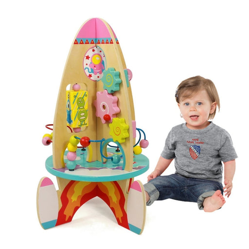 Wooden Space Rocket Ship Toy | Shop Online | Snatcher