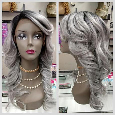 Gray lace front wig at OptimismIC Gift Shop 6603 Queen Avenue S Richfield, MN 55423 612-259-7454