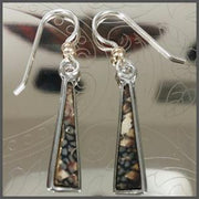 Abstract Earrings with Gold bead OptimismIC Gift Shop 6603 Queen Avenue S Minneapolis, MN 55423.