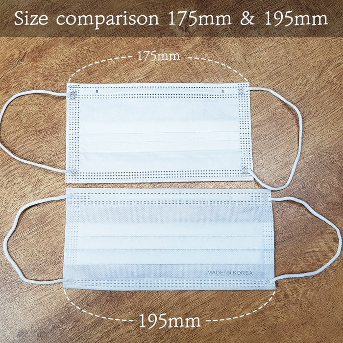 50pcs Korean White Disposable 3-Ply Breathable Face Mask