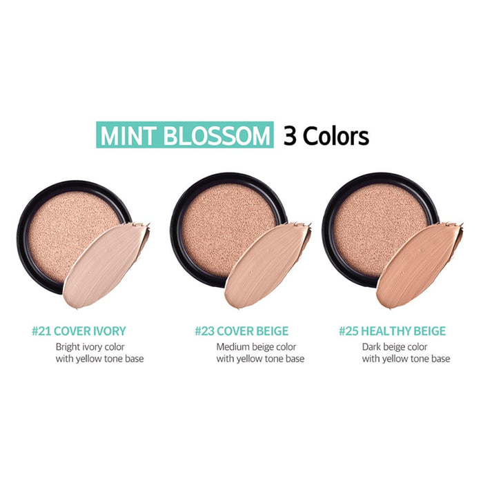 CORINGCO Mint Blossom Cover BB Cushion 15g+15g(refill)