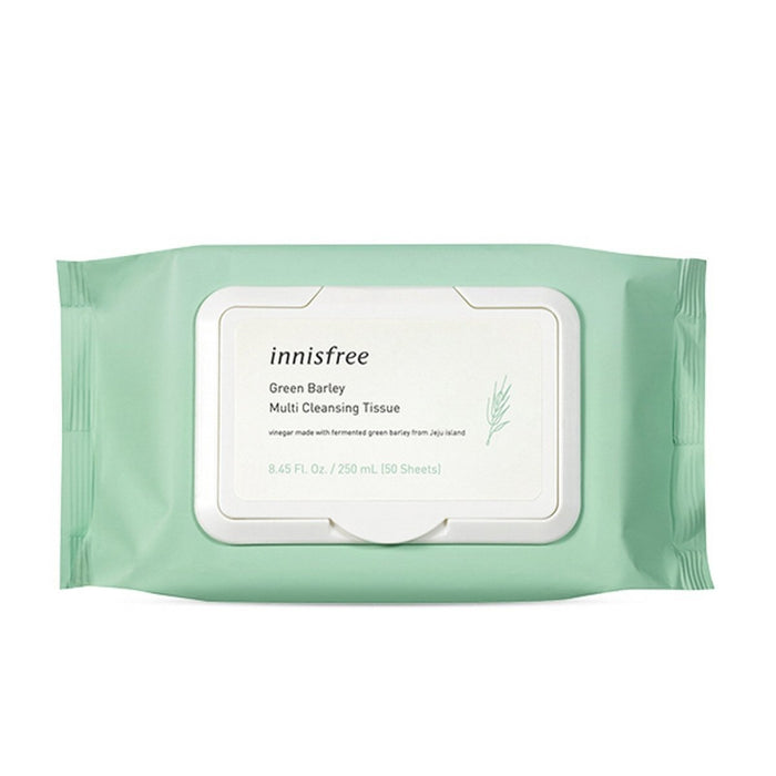 INNISFREE Green Barley Cleansing Tissue 50sheets - TheSimpleNavy