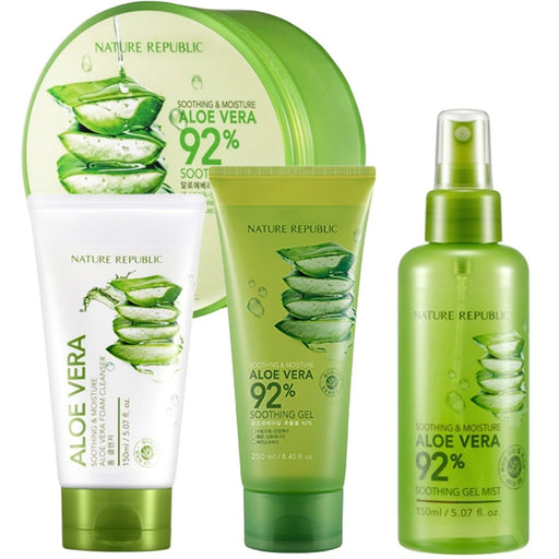 NATURE REPUBLIC Soothing & Moisture Aloe Vera Soothing Set - TheSimpleNavy