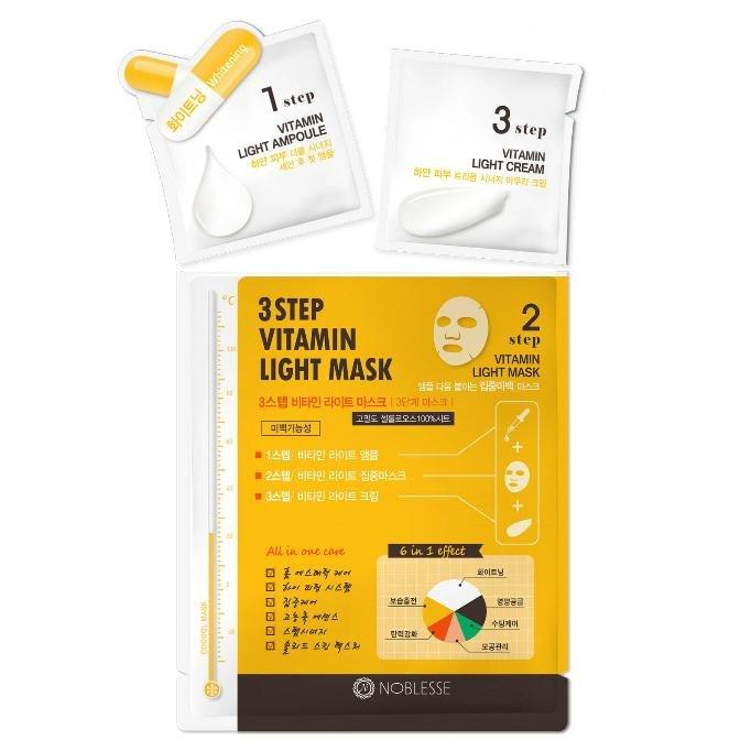 NOBLESSE 3-Step Ampoule Facial Skin Care Mask Sheet - TheSimpleNavy