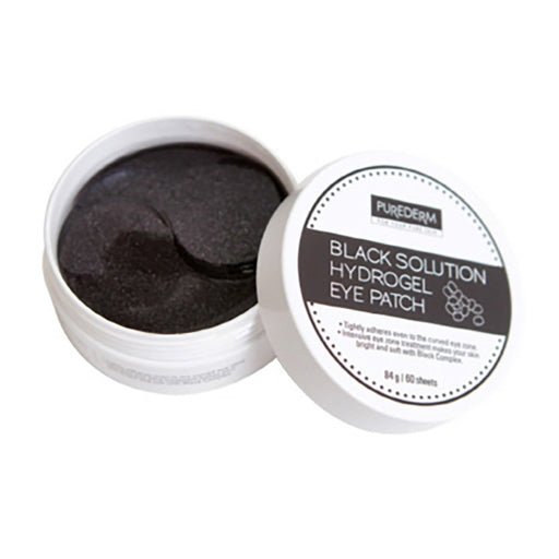 PUREDERM Black Solution Hydrogel Eye Patch 60 sheets - TheSimpleNavy