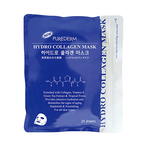 PUREDERM New Hydro Collagen Mask 25 Sheets - TheSimpleNavy