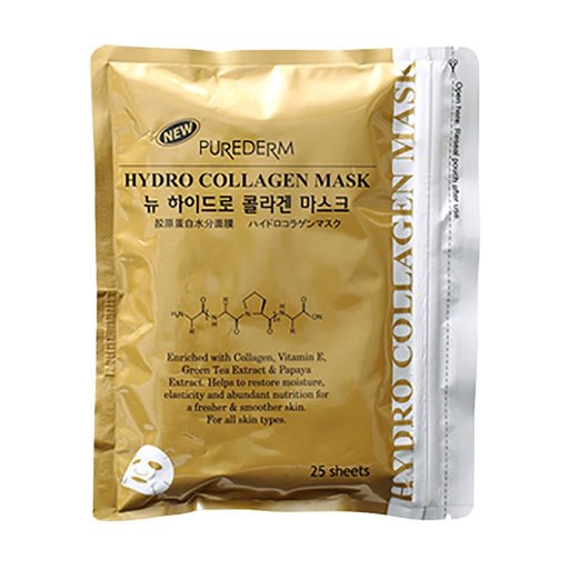 PUREDERM New Hydro Collagen Mask Gold 25 Sheets - TheSimpleNavy