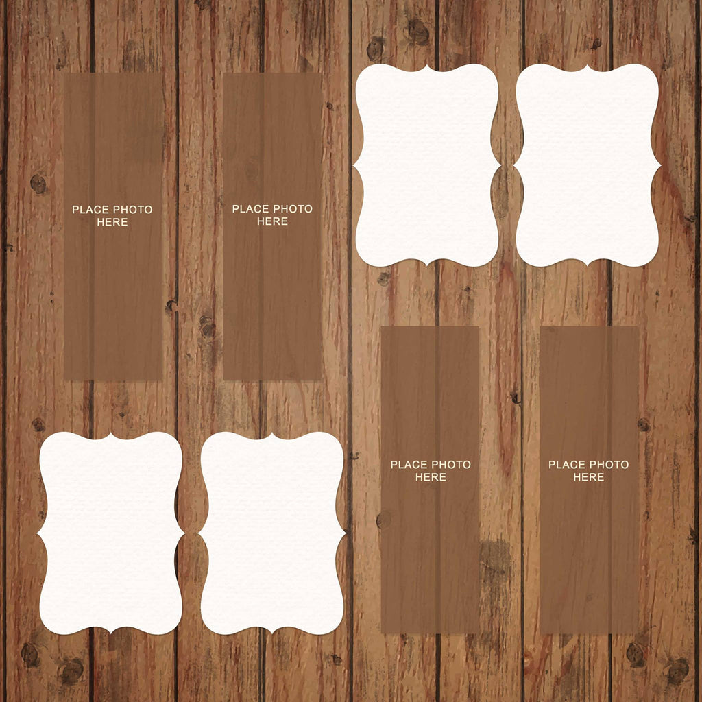 Brown Barn Wood Scrapbook Pages 2x6