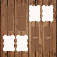 BROWN BARN WOOD  Photo Booth Album Pages 2x6
