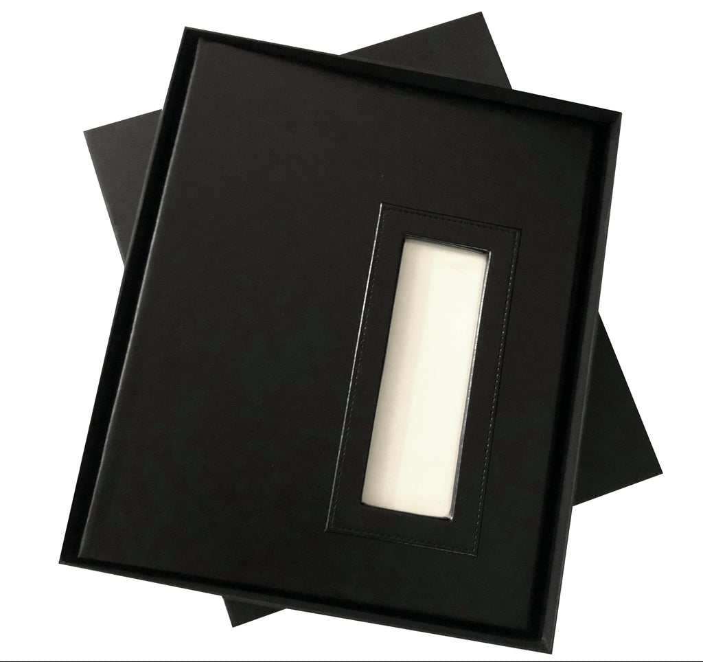 2x6 BLACK Slip-in Album with Keepsake Box