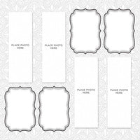 Abstract White Design Photo Booth Album Printed Pages 2x6