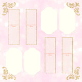 Blush Pink and Gold Photo Booth Album Pages 2x6