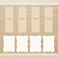 Burlap and Lace Design Photo Booth Album Pages 2x6
