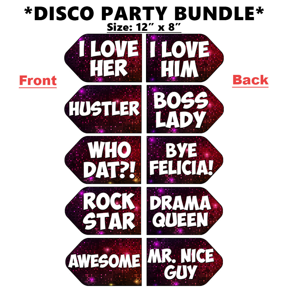 OVERSIZED Disco PVC Photo Booth Props