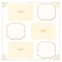 Gold & Ivory Design Photo Booth Album Pages 4x6