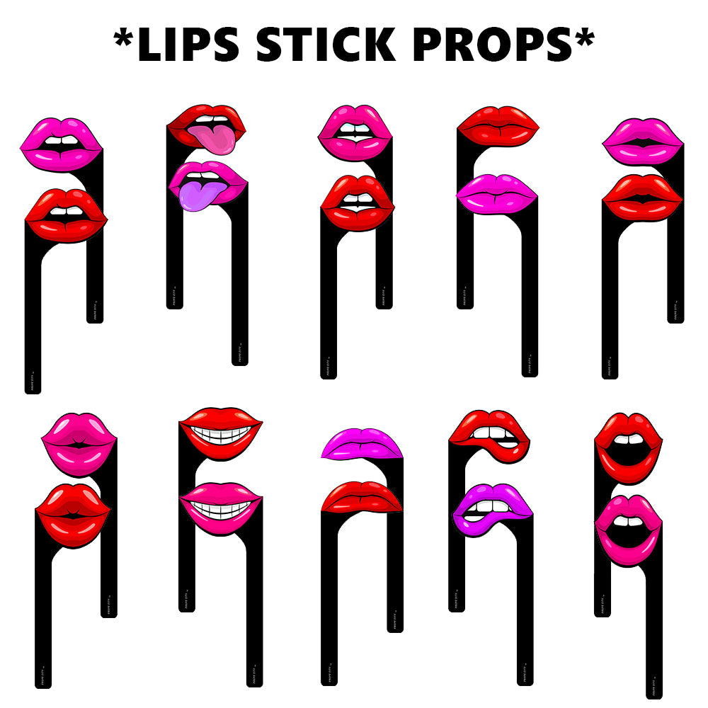 Lips Stick Props Bundle Photo Booth Props