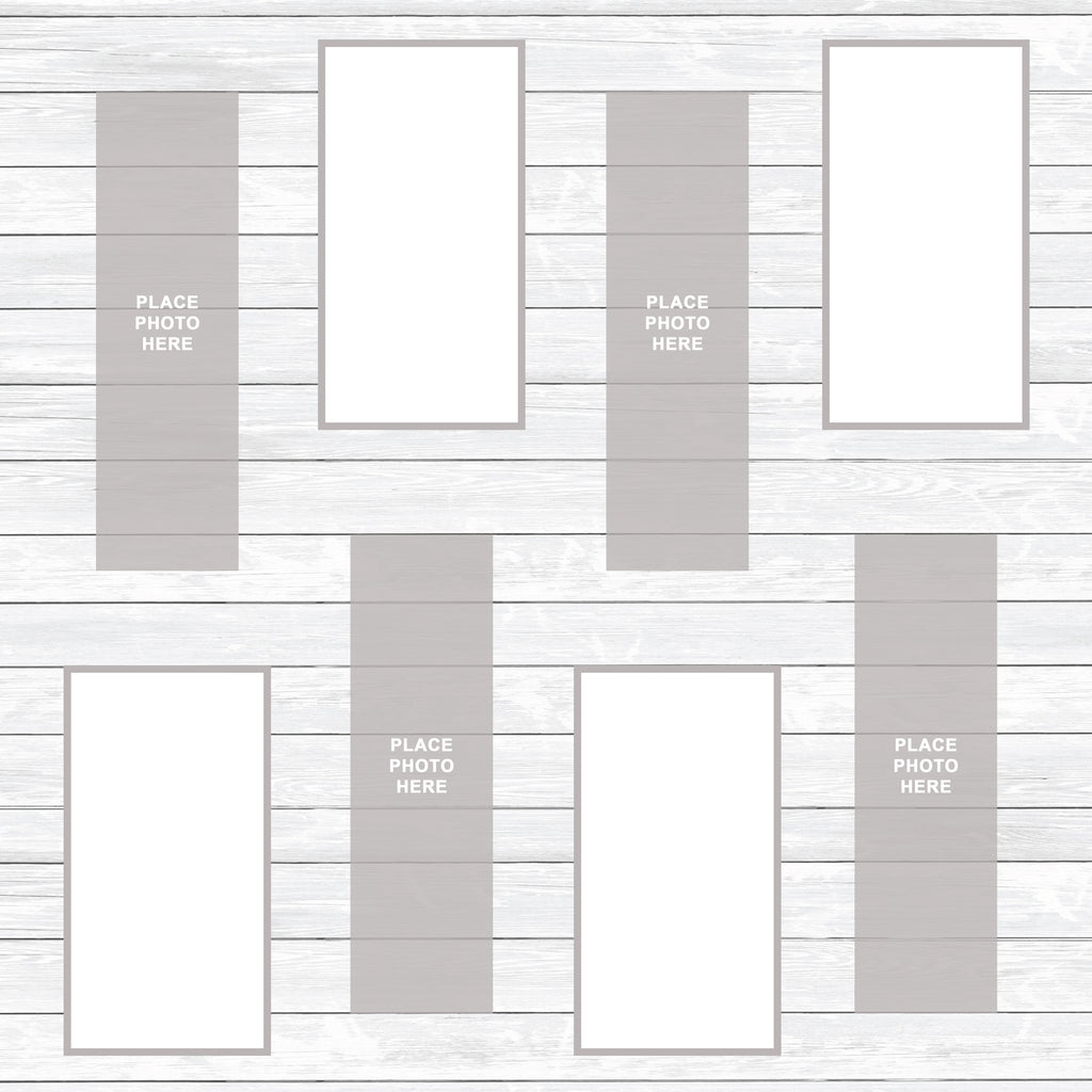 White Washed Wood Scrapbook Pages 2x6