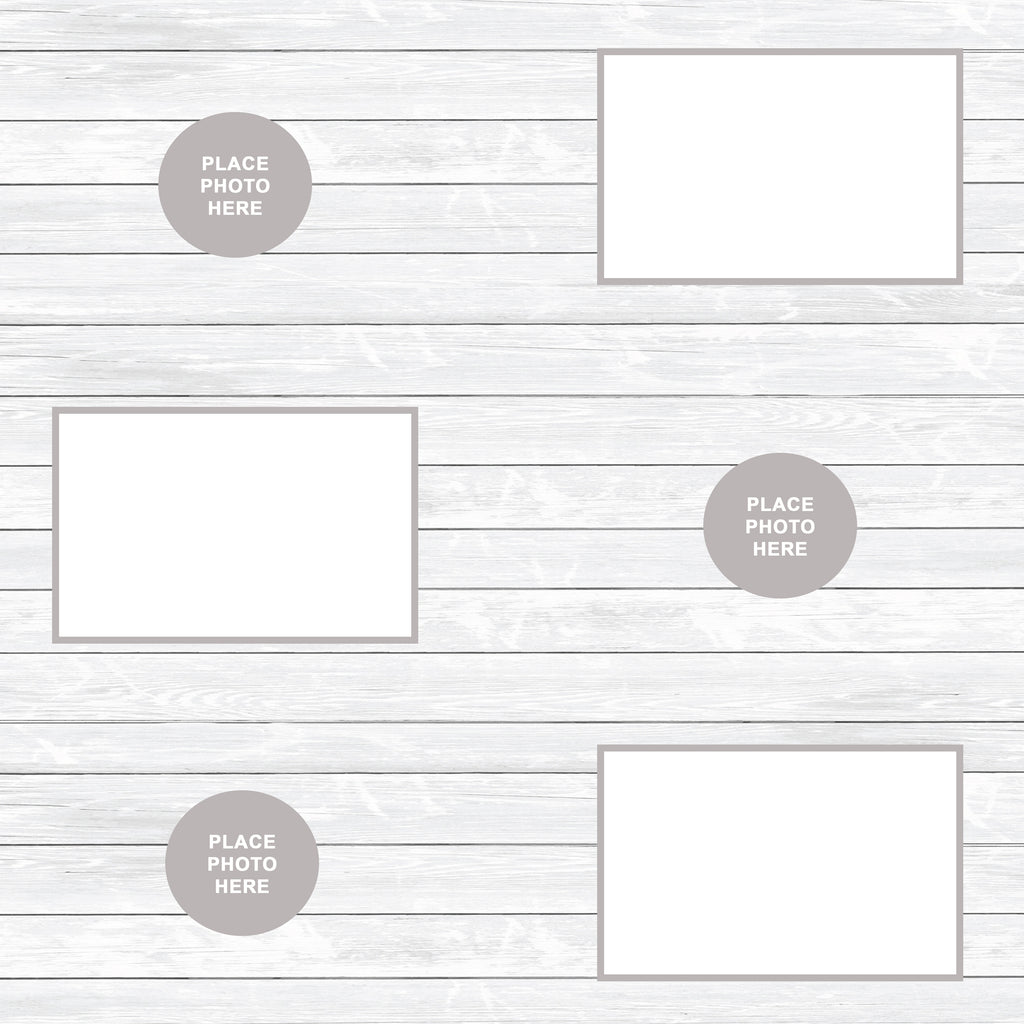 White Washed Wood Scrapbook Pages 4x6