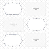 White and Gray Quatrefoil Design Photo Booth Album Pages 4x6