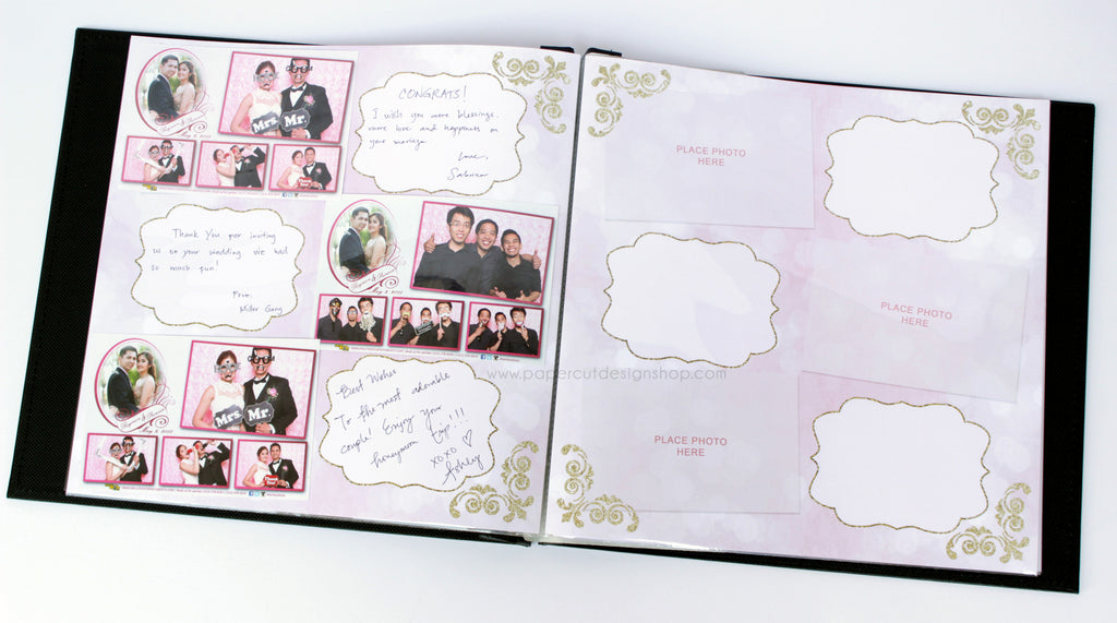 Blush Pink and Gold Design Scrapbook Pages 4x6