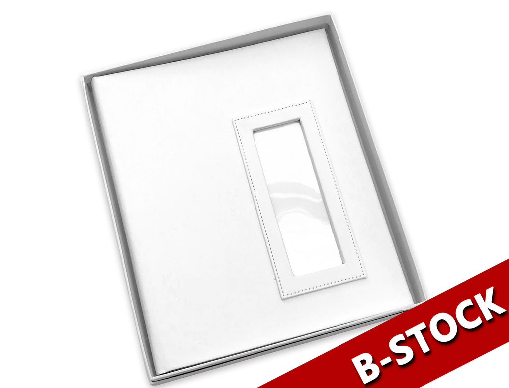 B STOCK Slip in Album 2x6 White