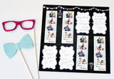Rustic Chalkboard Design Photo Booth Album Pages 2x6