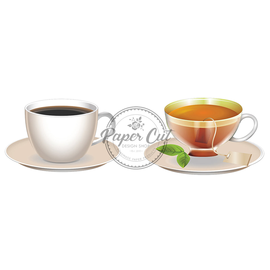 Coffee/Tea Oversize Prop Double-Sided