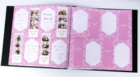 Pink Damask Design Photo Booth Album Pages 2x6