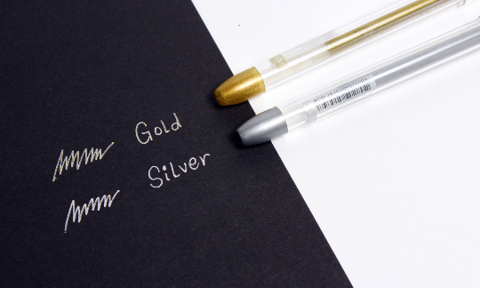 Metallic GOLD Gel Pen - 3 PCS