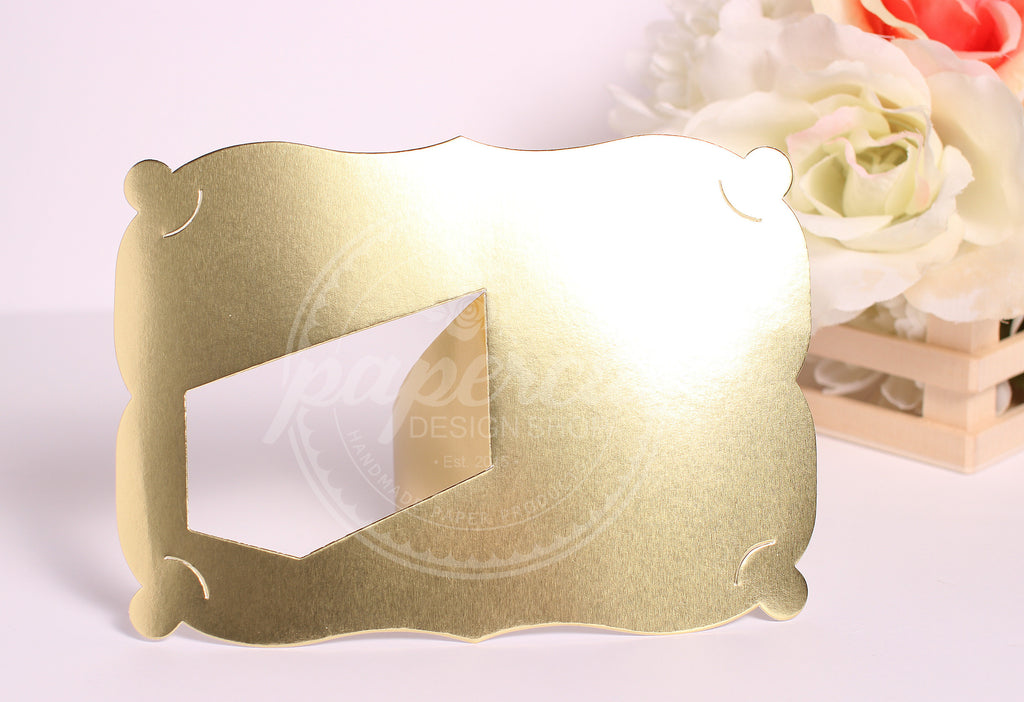 Gold Foil Photo Frame 4x6 Fancy Style