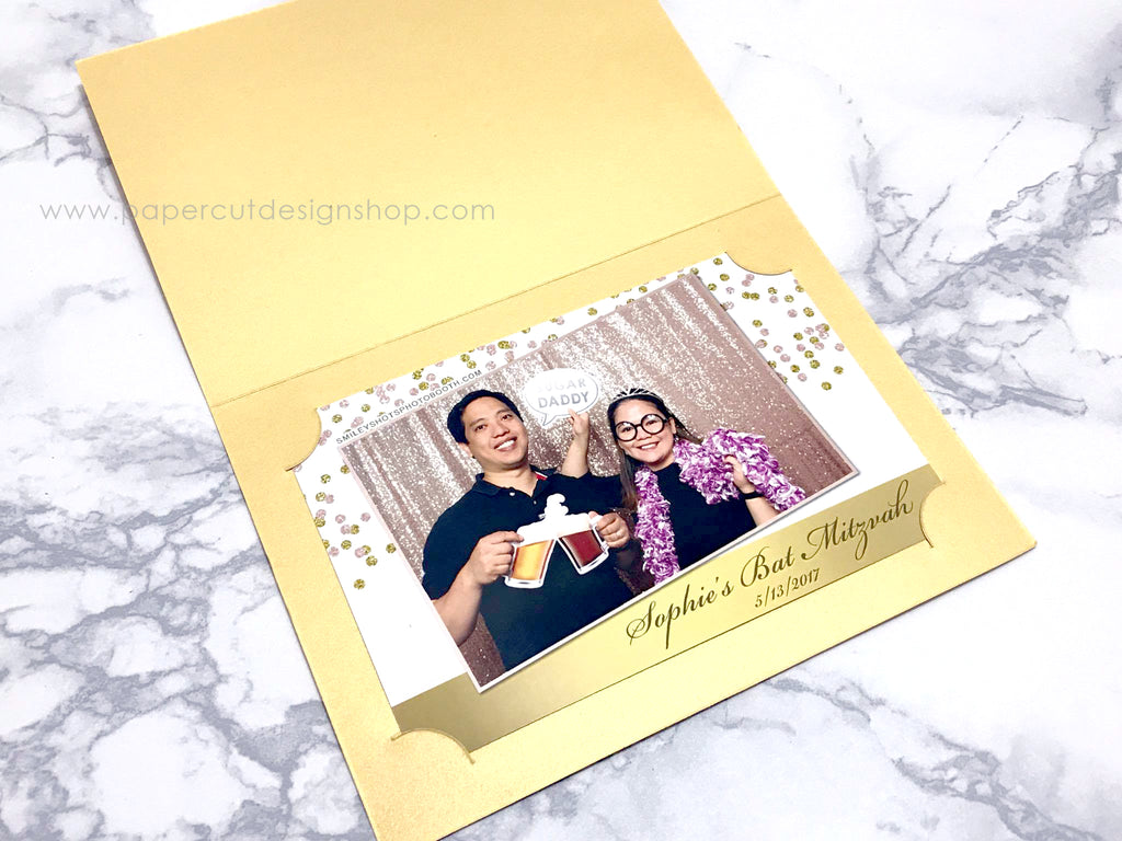 Photo Folder 4x6 Metallic Shimmer Gold - CUSTOM ORDER