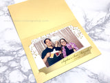 Photo Folder 4x6 Custom Design - Metallic Shimmer Gold