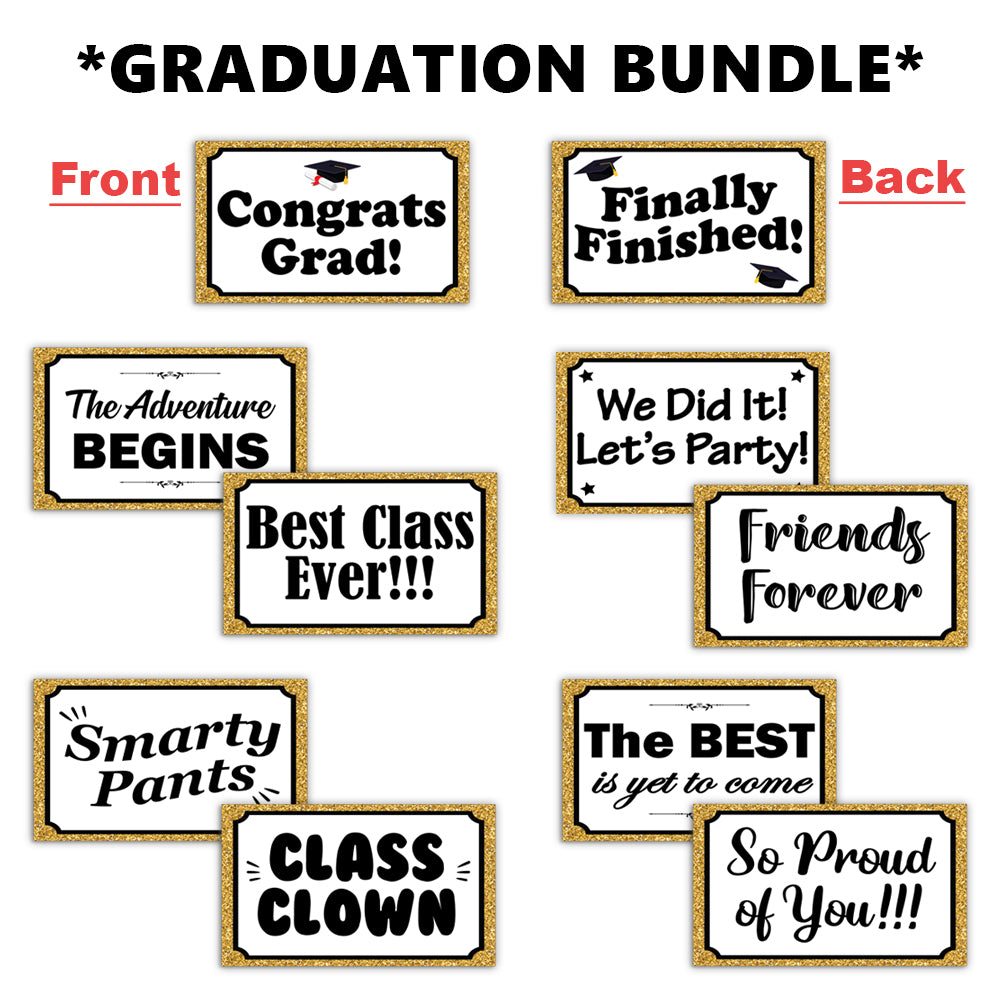 Graduation Bundle Photo Booth Props