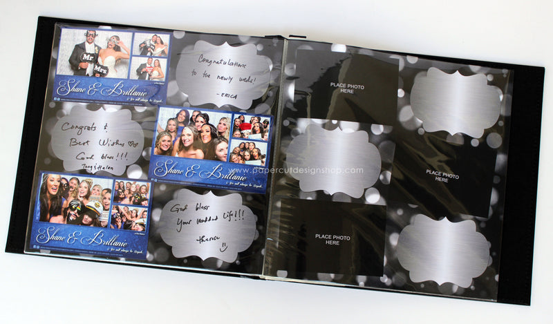 Metallic Silver Design Scrapbook Pages 4x6