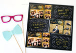 Chalkboard SWIRL Design Photo Booth Album Pages 4x6