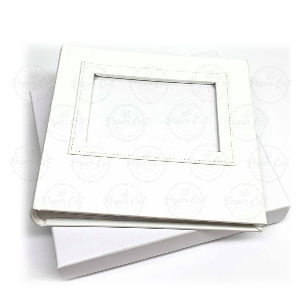 4x6 WHITE Slip-in Album with Keepsake Box
