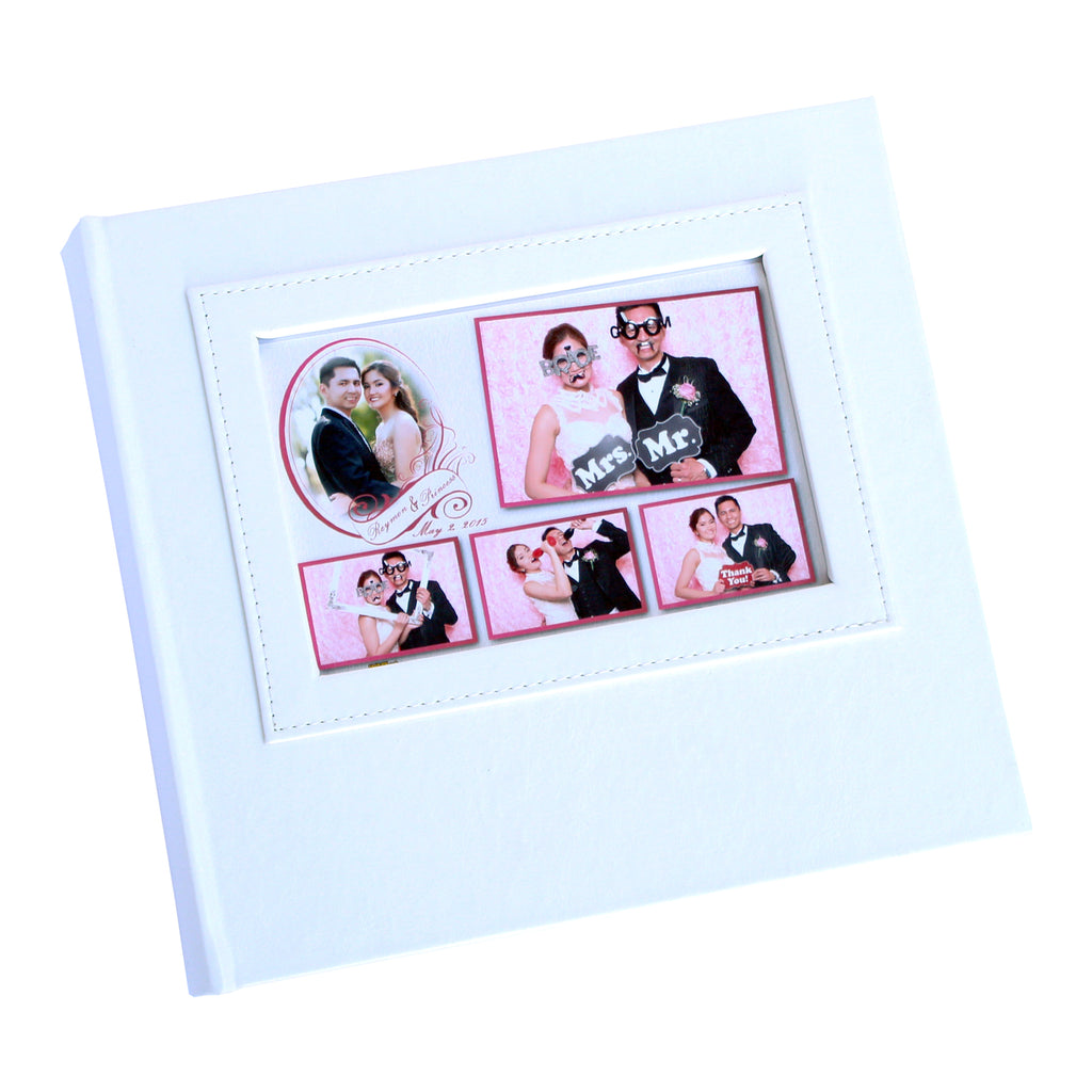 BULK (Pack of 5PCS) WHITE Slip-in Photo Booth Album 4x6 Photos Box Included