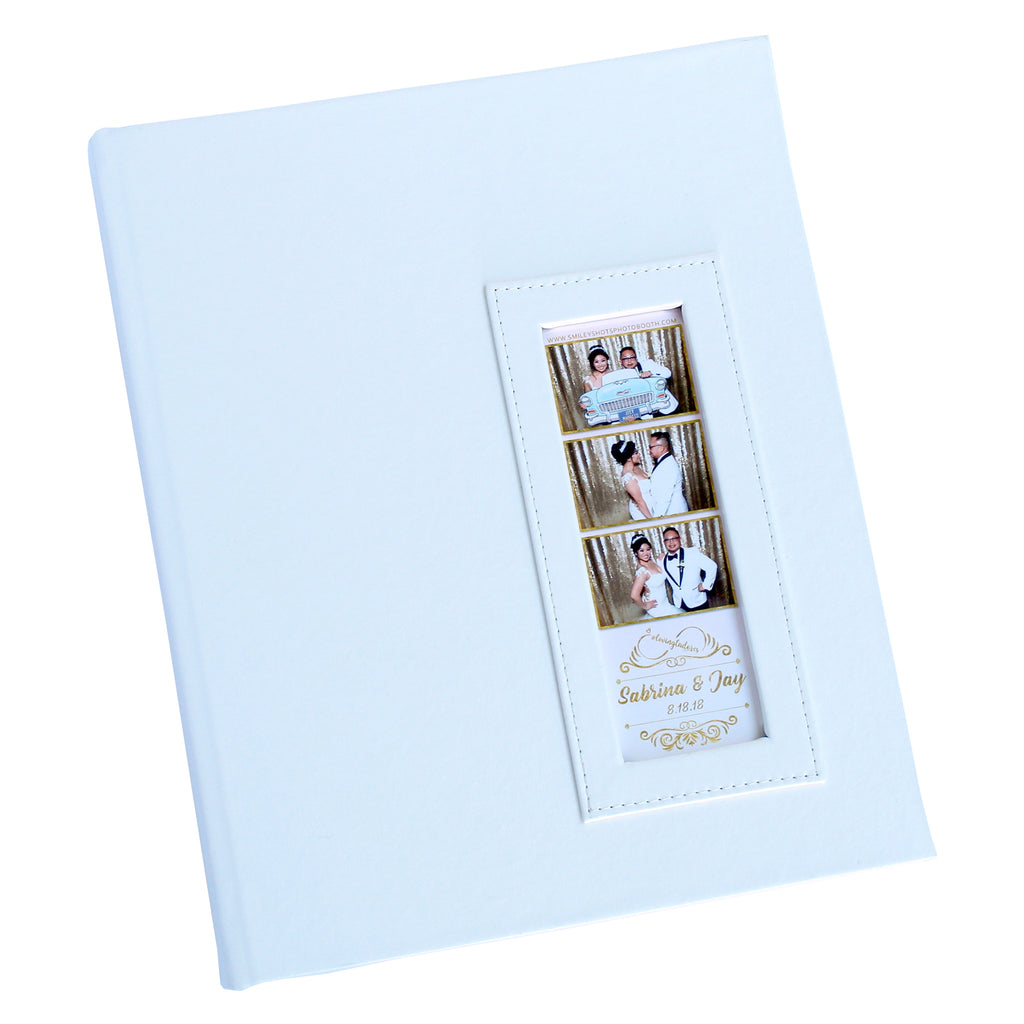 BULK (Pack of 5 PCS) WHITE Slip-in Photo Booth Album 2x6 Photos Box Included