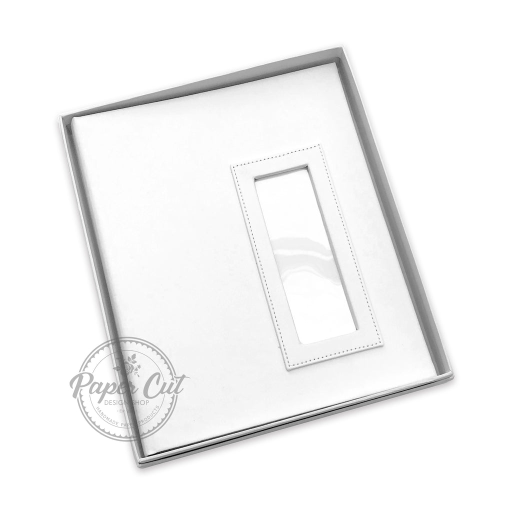 2x6 WHITE Slip-in Album with Keepsake Box