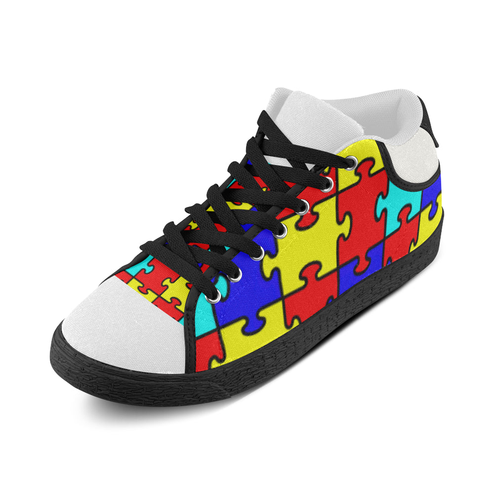 autism-puzzle-piece Men's Chukka Canvas Shoes